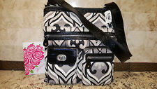 "BRIGHTON ""VICEROY"" Micro Fabric & Leather Shoulder /Cross Body 11""W x 13""H  NWT"