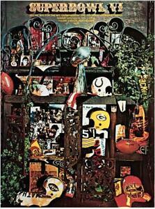 """1972 Cowboys vs Dolphins 22"""" x 30"""" Canvas Super Bowl VI Program - Fanatics"""