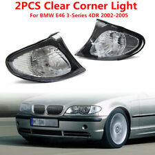 Crystal Clear Euro Corner Light w/ Silver Trim for BMW E46 3 Series 4DR 2002-05