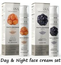 Mossa Organic nutritive day, restoring night face cream dry sensitive skin Крема