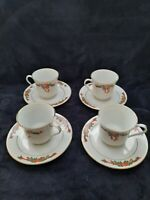 Poinsettia and Ribbons Fine China Christmas Tea Cup and Saucer Set