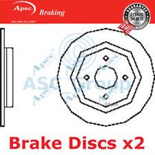 2 X Apec BRAKING 273mm Solide Original Qualität Ersatz Bremsscheiben (Paar)
