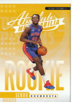 19/20 2019/20 Panini Absolute Yellow Rookies #14 Sekou Doumbouya Pistons