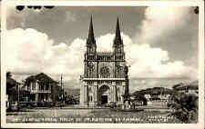 BRASILIEN ~1960 SANTOS Brasil Postcard Basilika Kirche Church Sto. Antonio