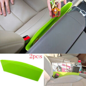 2XFor All Jeep Model Front Centre Seat Organizer Hold Storage Plastic Trim Green