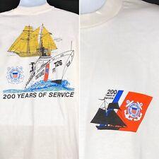 US Coast Guard 200 Years of Service Vtg T-Shirt XL Joseph Lane Cutter USA Made