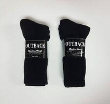 4 Pair Black MERINO Wool Blend Socks Men's Small-Med FREE SHIPPING