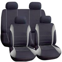 Universal Car Seat Covers Full Set Grey Black Washable Fits Audi A1 A2 A3 A4 90