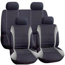 Universal Car Seat Covers Full Set Grey Black Washable Fits Audi A1 A2 A3 A4 90
