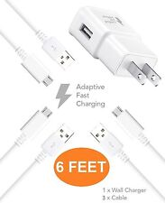 LG Stylo 2 Charger ( 6 FEET ) Micro USB 2.0 Cable Kit by TruWire { Wall Charg...