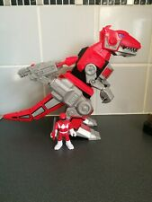 Power Ranger imaginext T rex megazord with both guns & red figure