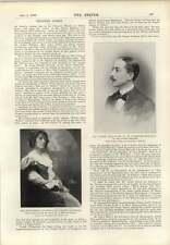 1899 el señor F Kinsey prile Miss Edith Morley progreso de GBS