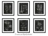 "SET of 6 Space Patent Prints - 8""x10"" Wall Art Decor - Great Gift for Engineers"
