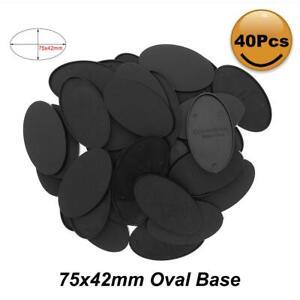 20pcs/40pcs/80pcs Oval Bases 75X42mm Plastic Base For Mini Wargames MB875