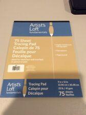 """Artist's Loft Fundamentals 75 Sheet Tracing Pad 9"""" X 12"""" 25lb"""