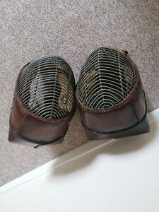 superb Pair of military 18c fencing training masks