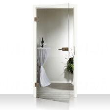 Komplettset Glastür Klarglas in 7 Größen Ganzglastür Klar mit Beschlagset