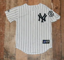 WOW CAPTAIN PATCH Derek Jeter #2 New York Yankees Jersey Youth Small (8) B6