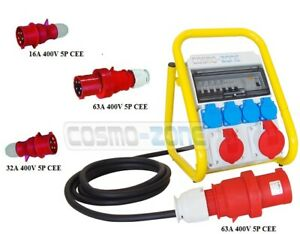Tragbarer Mobilverteiler Baustromverteiler Steckdosenverteiler TR/FI/16165-4
