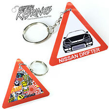 Nissan S14a UK Road Sign Keyring / Key Ring DRIFT JDM Car Cool Fun Sticker bomb