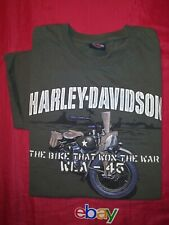 HARLEY DAVIDSON ARMY GREEN COLLECTABLE PEARL HARBOR T SHIRT MEN SZ M EUC !!!