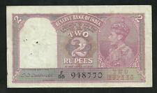 Inde : 2 Rupees 1943