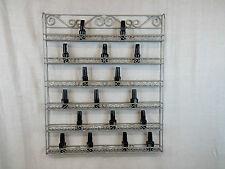 Heavy Duty Handmade Metal Nail Polish Wall Display Rack (Hold 90-126 Bottles)