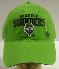 MLS Seattle Sounders FC Adidas Buckle-Back Curve Brim Cap Hat OSFA NEW!