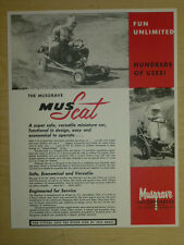 Vintage Musgrave Mus-Scat Go Kart Specification Sheet, Go Cart