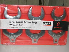 6pc Jumbo Crows Foot Wrench Set-Aircraft,Aviation,Automotive,Truck Tools