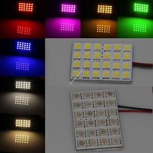 4 X 24 5050 SMD Box Door Dome Car LED Light Panel Interior T10 Festoon Bulb 12V