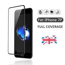 For iPhone 7 Plus 3D Curved Tempered Glass Screen Protector Metal Edge Black NEW
