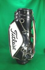 New listing vintage TITLEIST 6-way black and white cart bag * $20 SHIPPING *