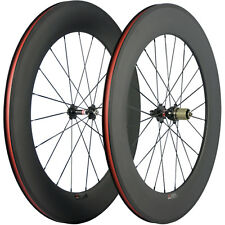 700C 88mm Clincher Road Bike Carbon Wheels Novatec 271 Hub Basalt Braking Wheels