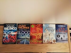 5 books CrimeThriller Bestseller Child Baldacci Gardner Archer Macbride