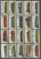 1925 Wills's Cigarettes Railway Engines Tobacco Cards Complete Set of 50