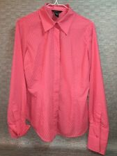 Moda International Blouse Peach Orange Salmon Women's M 10-12