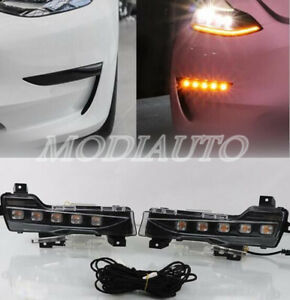 Fit 2017-2020 Tesla Model 3 DRL daytime running light Bumper fog light signal