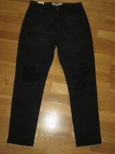 1029af006b96 Boohoo Rockn Rev Black Ripped SKINNY Jeans Size 12 Leg 29 With Tags