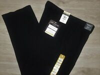 HAGGAR Luxury Comfort Pants Classic 4 Way Stretch Waist Moisture Wicking Black