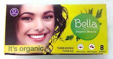 SET LOT 8 Spool Bella Green Eyebrow Threading Organic Cotton Thread Hair Removal