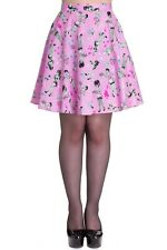 Hell Bunny Pink Zombie Diner Skirt Size X-Small
