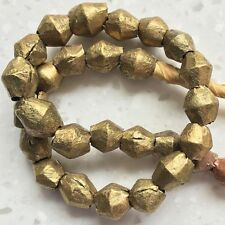 Cameroon Brass Bicone Beads (7-8mm), 2 per pack.