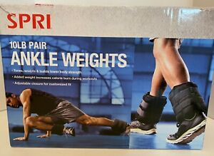 Two new 10lb Ankle Weights by SPRI  New in Box 20 pounds total