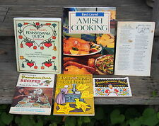 5 CookBooks BEST LOVED AMISH COOKING & PA DUTCH RECIPE + 1 bonus Free Shipping