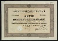 🇩🇪GERMANY 839/B&M -Hoesch Aktiengesellschaft, Dortmund, 1943, 100 RM🇩🇪