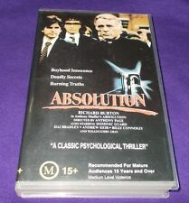 ABSOLUTION VHS PAL REBEL VIDEO AUSTRALIAN RELEASE VGC CLAMSHELL