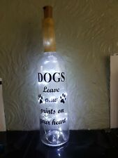 HAND MADE BOTTLE GLAZED SO WATER PROOF BATTERY OPERATED LIGHTS OR SOLAR
