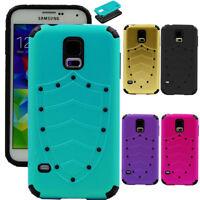 For Samsung Galaxy S5 i9600 Hybrid Shockproof Rubber Hard Back Case Cover Skin