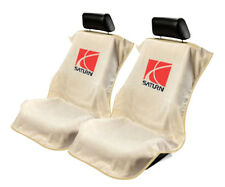 Seat Armour 2 Piece Front Car Seat Covers For Saturn - Tan Terry Cloth